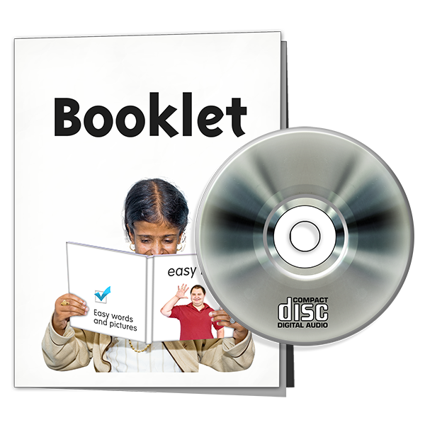 an information booklet and a compact disk