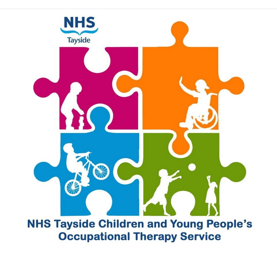 the NHS Tayside logo made up of four different colored jigsaw pieces