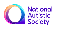 National Autistic Society in purple writing with rainbow circle