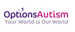 Options Autism logo in pink and purple writing